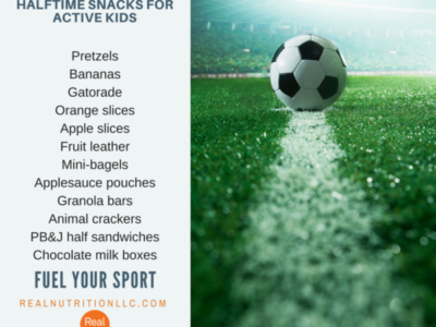 Halftime snacks for active kids