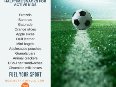 Halftime snacks for active kids